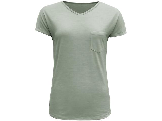 Devold Herdal Camiseta Mujer, fogg